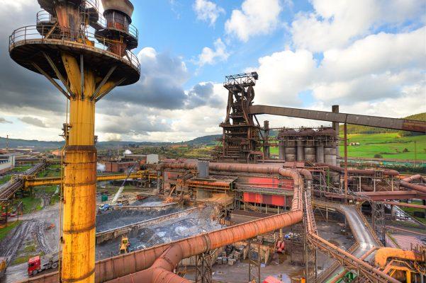 Fotografía industrial realizada para la factoria siderurgica Arcelor Mittal Gijon, Asturias.