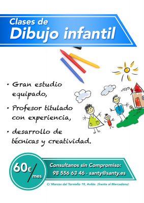 Clases dibujo niños Avilés.