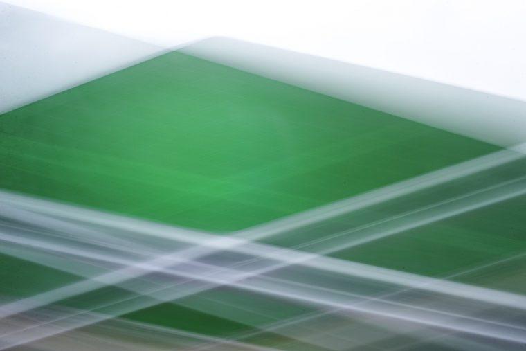 Fotografia artistica composicion de lineas y colores verdes y grises
