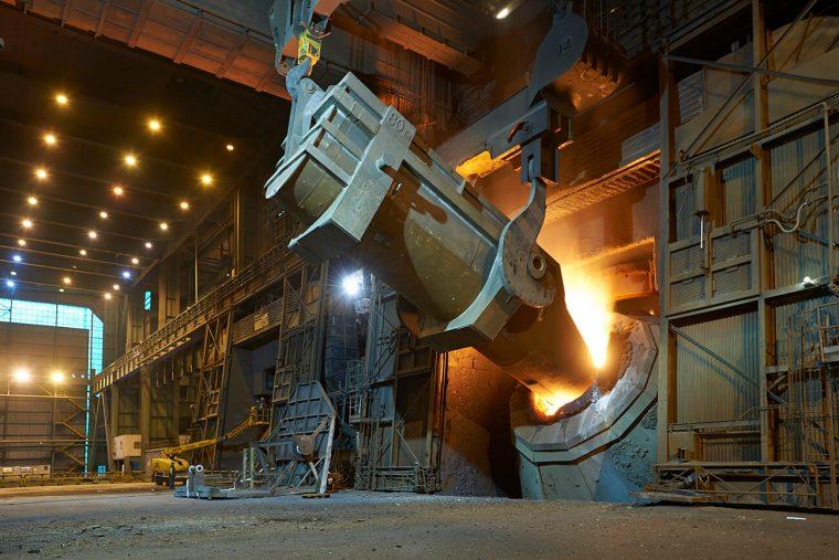 Fotografía industrial para Arcelor Mittal en Tabaza, Carreño, Asturias. Metal. Fundición. Colada. Industrial.