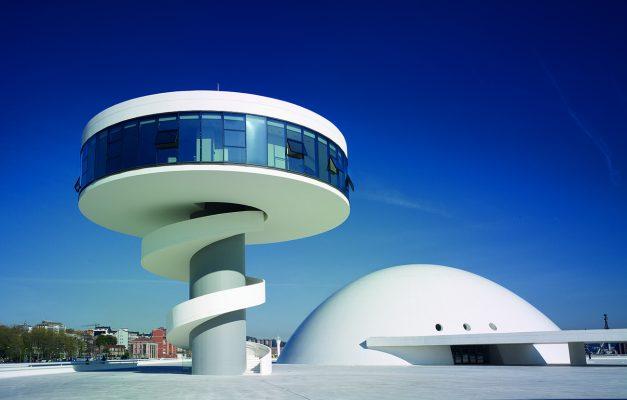 Fotografía del Centro Niemeyer, Avilés, Asturias.