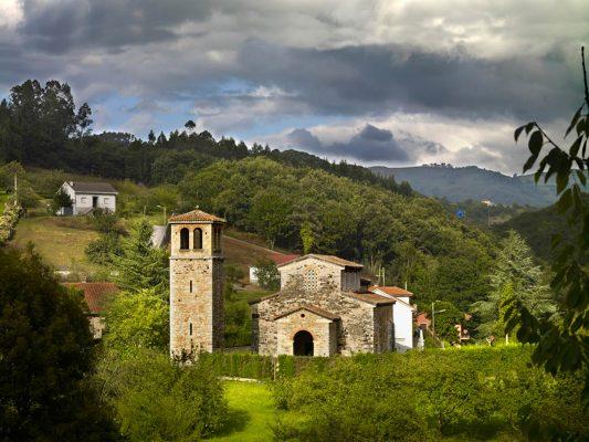 Iglesia prerrománica de San Julian de los Prados, Oviedo, Asturias.