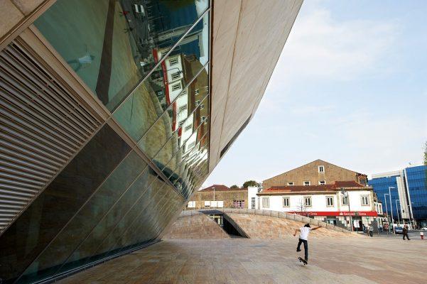 Edificio de la escuela de música de Oporto, realizada por el arquitecto Rem Koolhaas