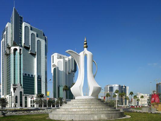 Monumento en Doha, Qatar