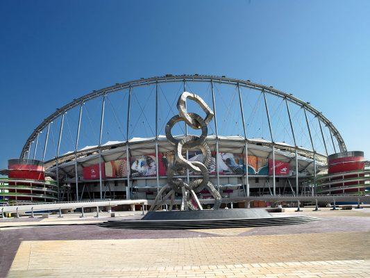 Instalaciones deportivas en Doha, Qatar.