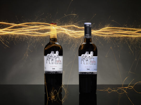 Fotografía para vinos Jeromín, Madrid, España. Dos Bengalas.