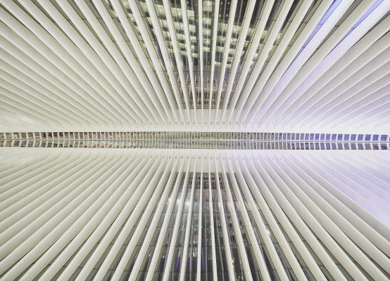 Perspectiva del edificio Oculus Caltrava en Nueva York