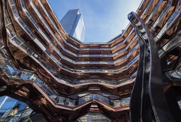 Edificio escultórico The Vessel, creado por Thomas Heatherwick, New York.
